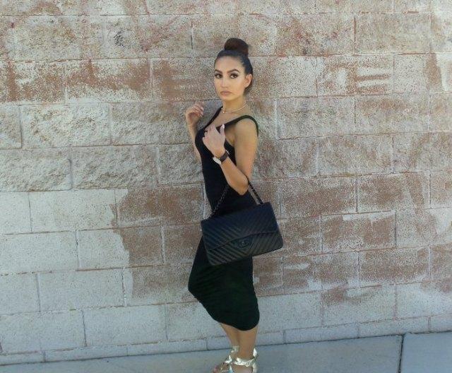 silver metallic open toe heels black clutch bag