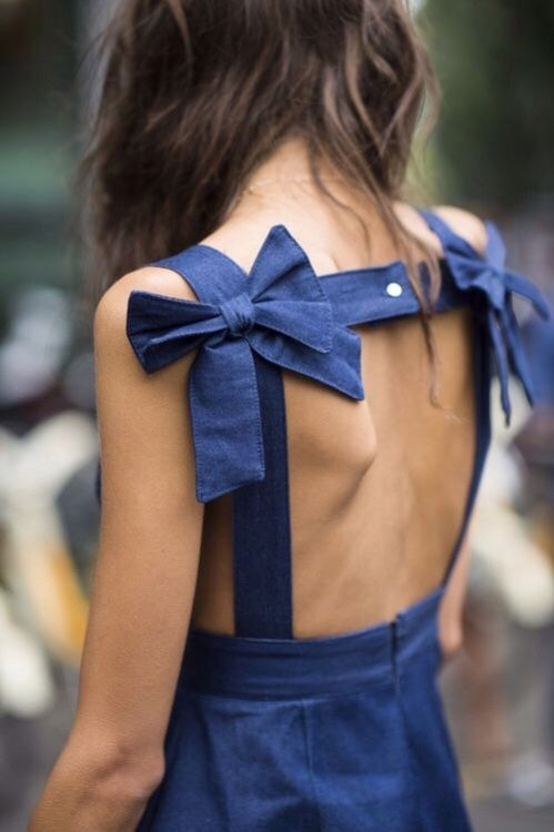bend back dress blue two