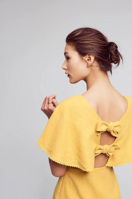 bend dress yellow