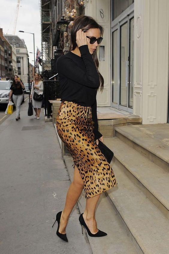 leopard print dress victoria beckham