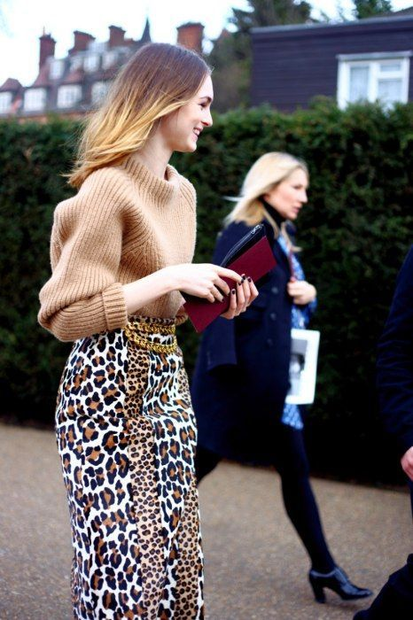 sweater with leopard print