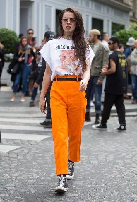 orange pants rock n roll