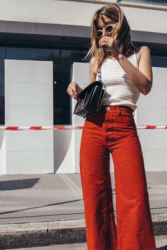 orange pants light color
