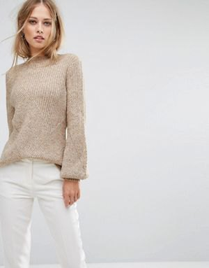 gray ribbed sweater white skinny jeans