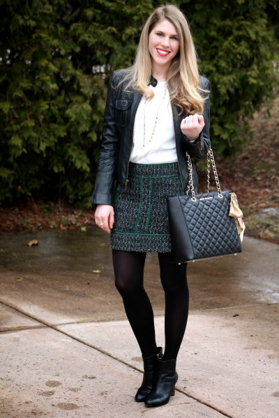 black quilted skirt jackets