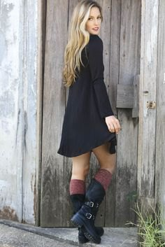 knee high socks mid calf shoes