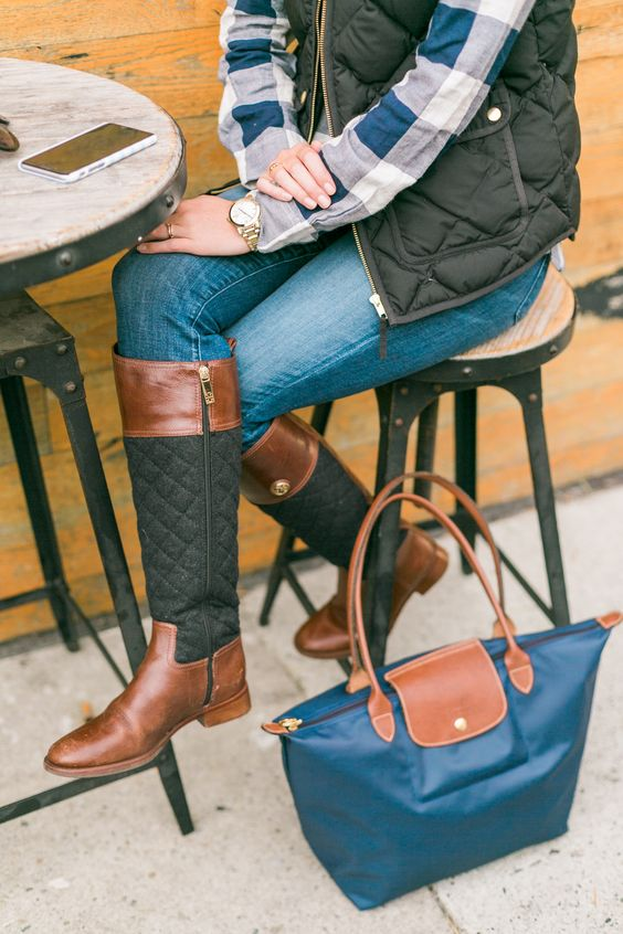 quilted boots trend