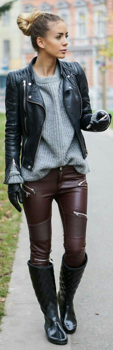 quilted boots burgundy pants