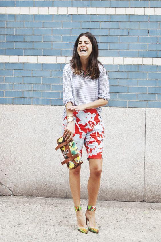 bermuda shorts flowers