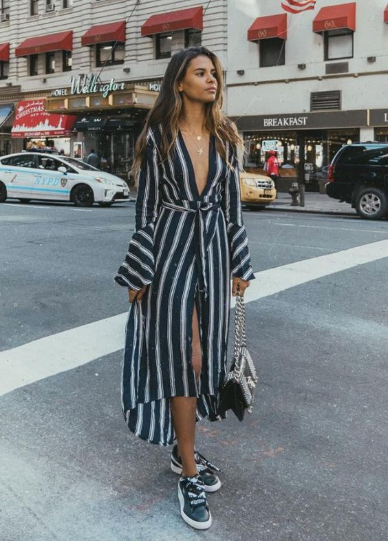black and white striped dress skirt