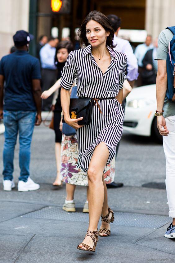 black and white striped dress blend pattern