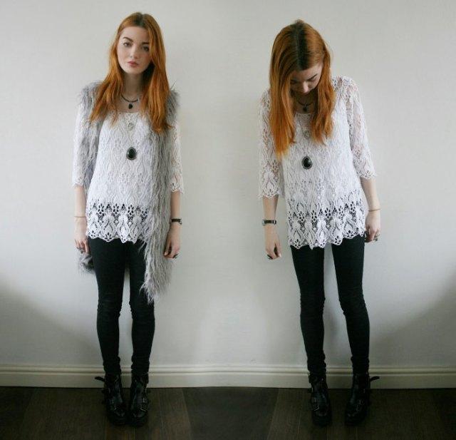 white long skinny jeans