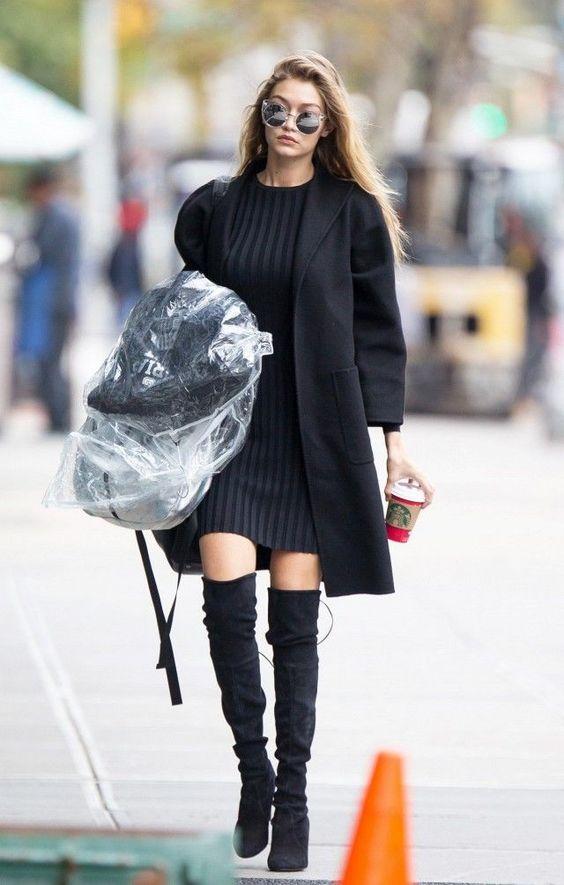 black knitted dress gigi