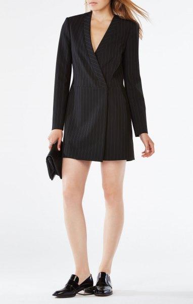 black striped suit jacket