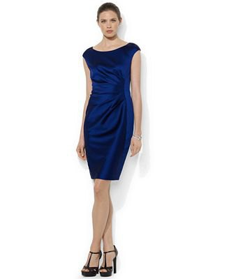 dark blue cap sleeve velvet bodycon dress