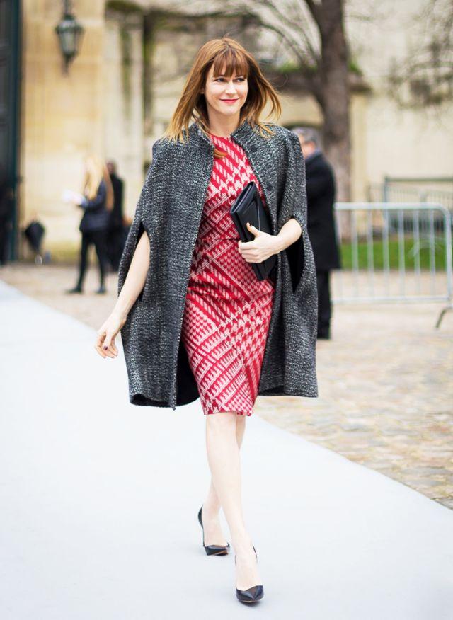 tweed dress matching tweed