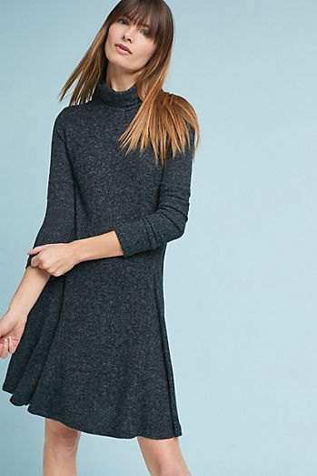 light gray flared sweater dress