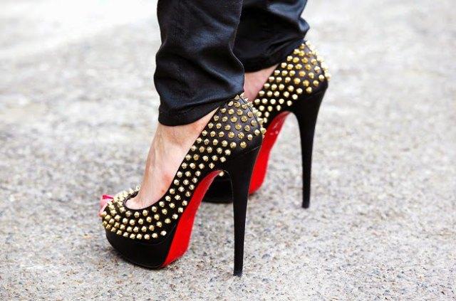 dress pants black platform heels with gold buttons