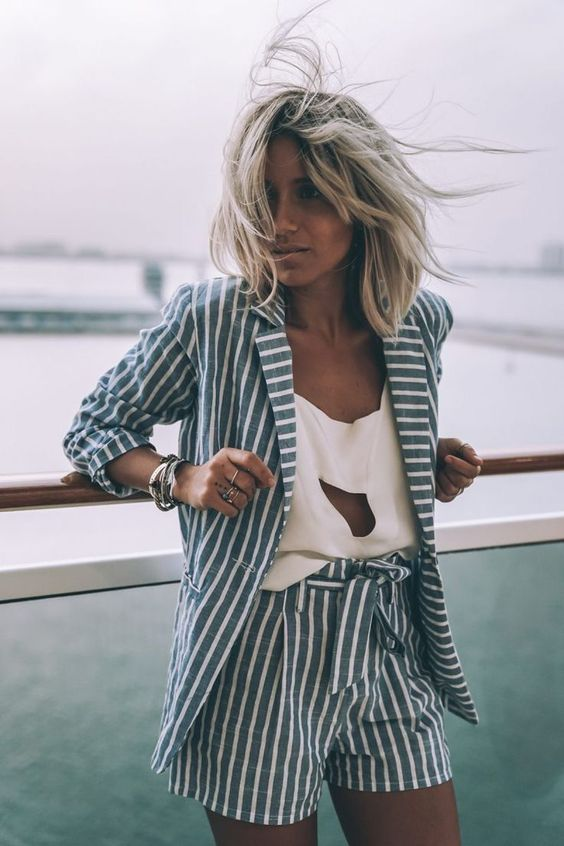 keyhole top stripes on stripes