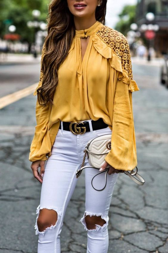 keyhole top yellow