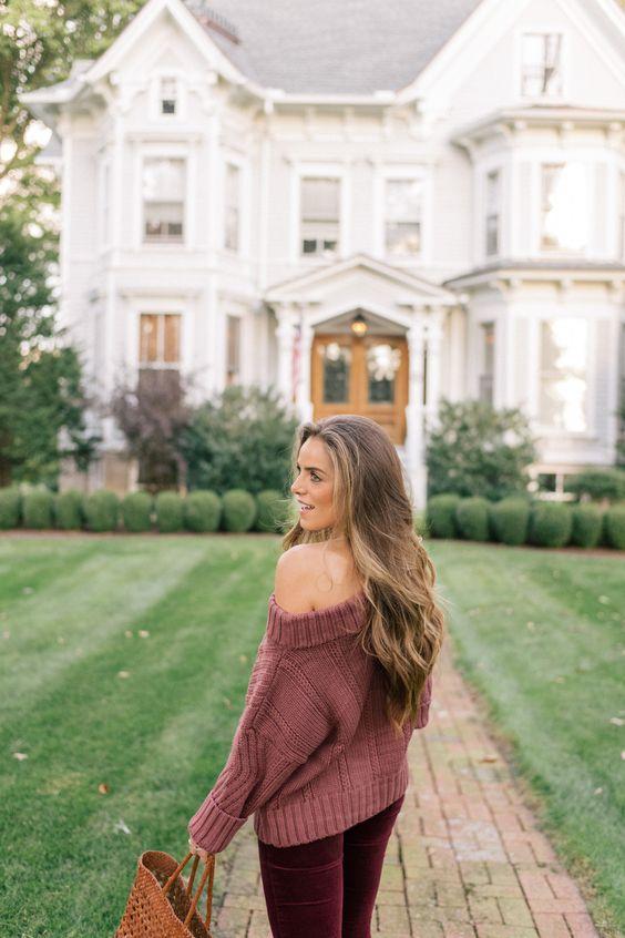 open shoulder sweater colors