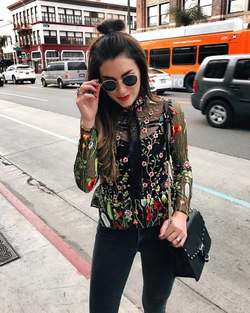 embroidered next black jeans