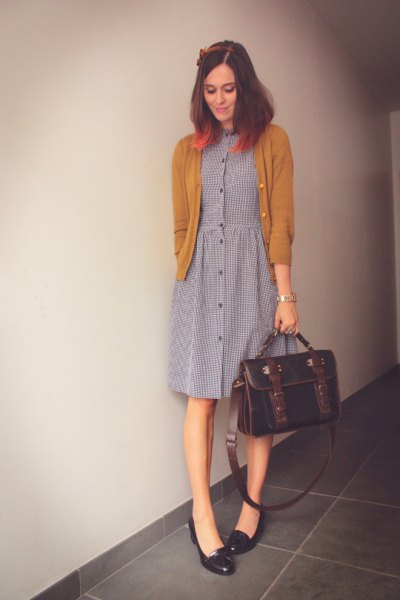 black heeled loafers gray button dress front shirt