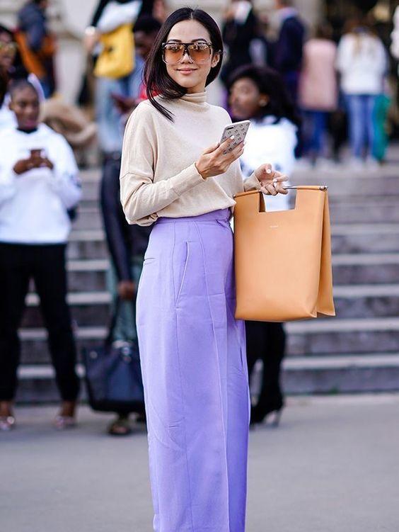 purple trousers purple
