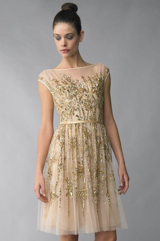 gold sparkling dress tulle