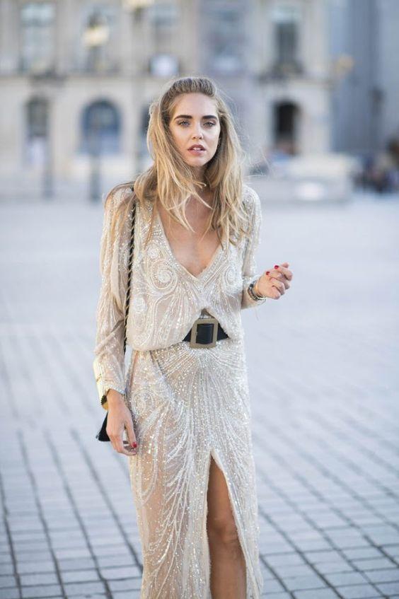 gold sparkly dress belt