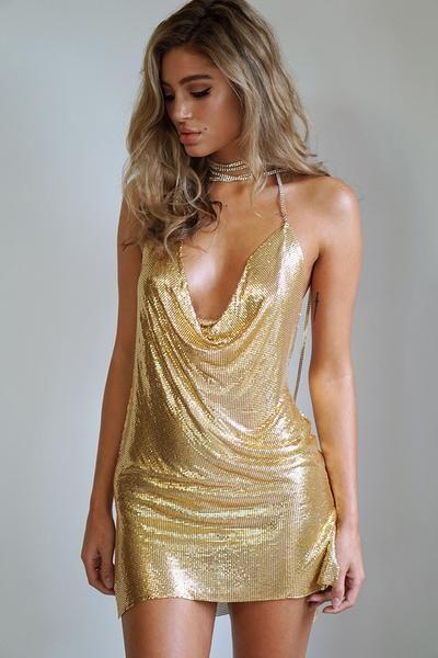 gold sparkly dress paris hilton wannabe