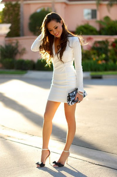 long-sleeved bodycon mini dress