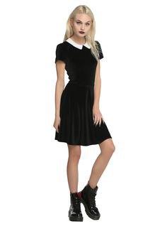 black skater dress leather ankle boots
