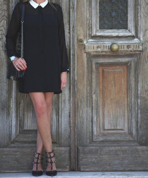 black dress dress strappy heels