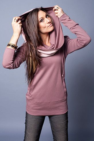 sweater with cabbage neck lilac