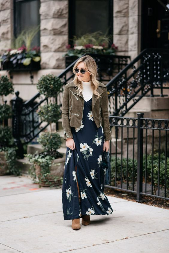 navy floral dress in stock
