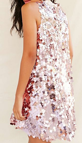 pink sequin dress square sequins