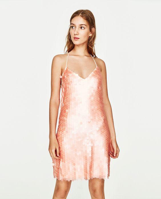 pink sequin dress matte