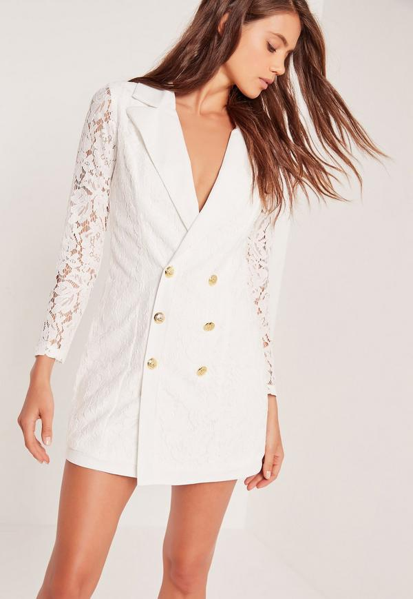 tip of white blazer