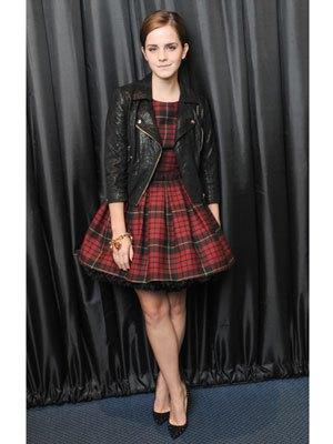 red and black checkered skater dress jacket