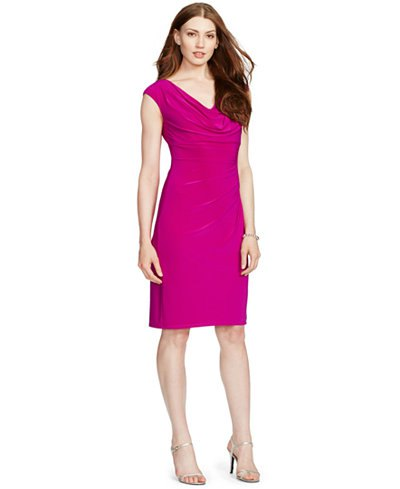 pink knee-length knee-length dress