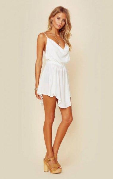 white spaghetti strap skirt