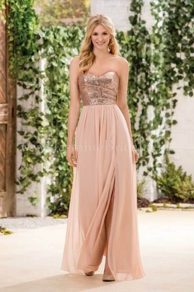 pink gold and pink two toned dress