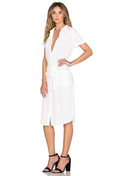white knee length chemistry shirt dress