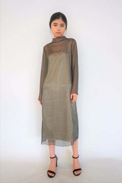 two layer green chemistry dress