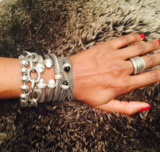 silver cuff bracelet crushed