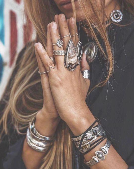 silver cuff bracelet boho