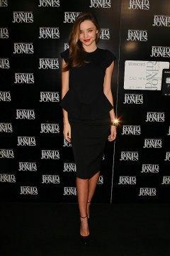 knee length peplum dress black ankle strap heels