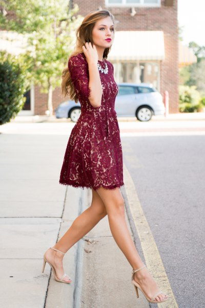 half-heated fit and flare mini dress