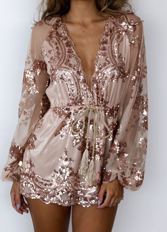 pink gold dress cable waist
